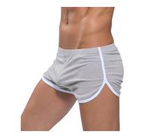 Mens Loose Home Sport Soft Cotton Boxer Shorts Sleepwear