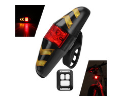 XANES STL05 LED 6 Modes Wireless Remote Control Turn Bike Taillight 500mAh USB Rechargeable Waterpro