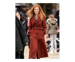 LATEST #UNDOING GRACE SACHS RED COAT | NICOLE KIDMAN