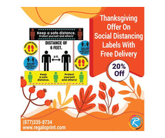 Thanksgiving 20% Discount Offer On Social Distancing Labels
