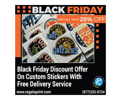 Black Friday 20% Discount On Custom Stickers With Free Delivery