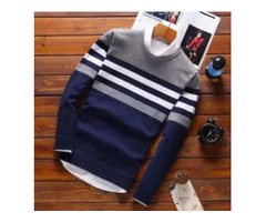 Best and Pure cotton Navy Blue Full Sleeve T-shirt For Men in bd