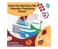 Custom Face Mask Boxes With Tremendous Thanksgiving Discount