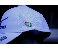 Arnold Palmer Pin Flag Umbrella Logo Silk Screened