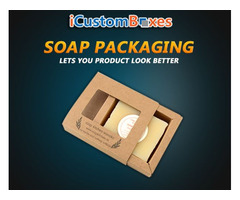 Get custom printed Soap packaging boxes at icustomboxes