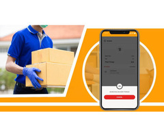 Utilizing a courier service app delivering your orders in a short amount of time