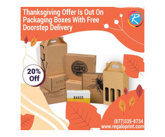 Thanksgiving Offer Is Out On Packaging Boxes With Free Doorstep Delivery