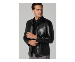 Genuine Cowskin Leather Jacket for Men's