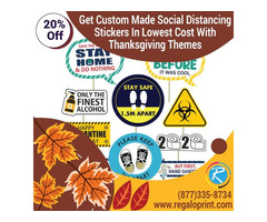 Get Custom Made Social Distancing Stickers In Lowest Cost With Thanksgiving Themes