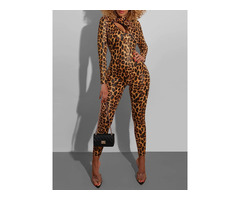 Print Ankle Length Sexy Skinny Pencil Pants Womens Jumpsuit | free-classifieds-usa.com