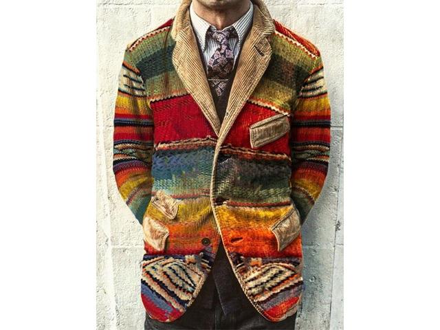 Fashion Color Block Slim Style Patchwork Mens Leisure Blazers | free-classifieds-usa.com