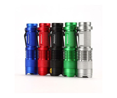 AloneFire SK68 XPE Q5 3Modes Zoomable Tactical Mini LED Flashlight AA Battery