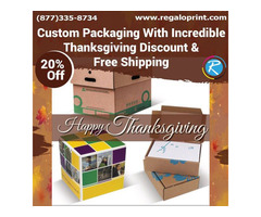 Custom Packaging With Incredible Thanksgiving Discount Of 20% Plus Free Delivery