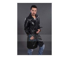 Black Friday_Thanks Giving Day Dr Christopher Eccleston Leather Coat