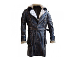 Black Friday— Elder Maxson Fall Out Leather Coat With Fur