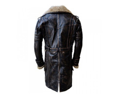 Black Friday—Elder Maxson Fall Out Distressed Leather Coat