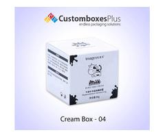 Get Cream Jars Cosmetic Packaging Wholesale at CustomBoxesPlus