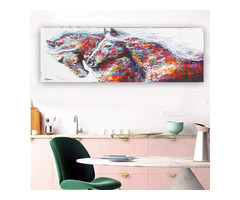 Colorful Horse Home Decoration Canvas Paintings Combinations Painting