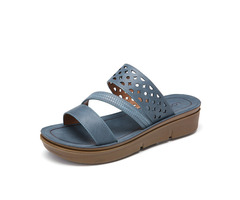 Lostisy Women Breathable Hollow-out Triple Band Open Toe Platform Sandals