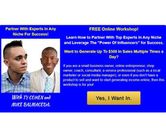 Partner With Experts In Any Niche For Success!