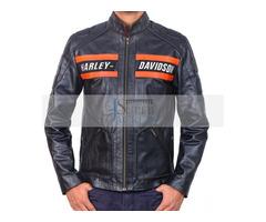 Harley Davidson Wrestler Goldberg Black Cowhide Leather Jacket