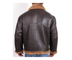 Happy Christmas| Aviator B3 Bomber Brown Fur Leather Jacket