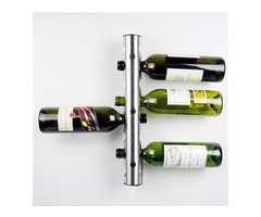 Creative 8 Holes Wine Rack Wine Holders Kitchen Bar Wall Mounted Display Stand Rack Wine Shelf
