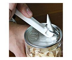 Multi-function Plastic Simple L Shape Tin Can Bottle Opener Kitchen Cooking Tool