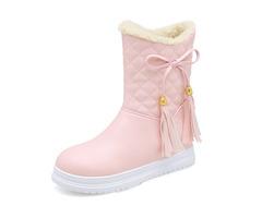 Warm Flat Platform Slip On Causal Soft Ankle Snow Boots