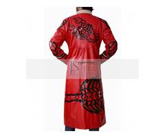 Happy Christmas| Sting Scorpion Red Leather Coat
