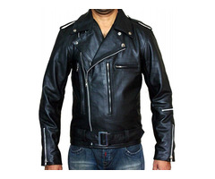 Happy Christmas| Terminator 2 Arnold Schwarzenegger Leather Jacket