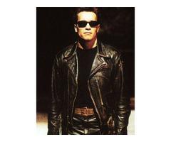 Happy Christmas| Arnold Schwarzenegger Leather Jacket