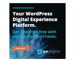 WP Engine - 3 months free on annual plans!