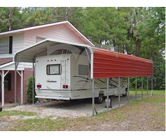 Carport Versatility - Fully Enclosed And Portable Single Carport