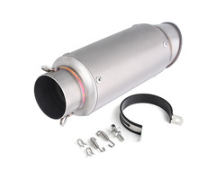 61mm Exhaust Muffler Pipe Universal Stainless Steel For Motorcycle ATV