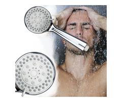 Handheld Pressurized Shower Head Bathroom 4 Modes Ajustable Showerhead