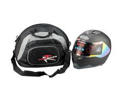 PRO-BIKER Portable Motorcycle Full Face Helmet Bag Backpack Black Waterproof