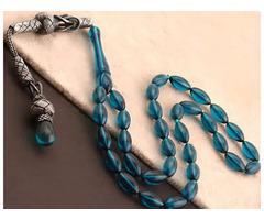 Oil Blue Amber Prayer Beads, Tesbih