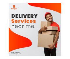 "Just Write ""delivery services near me"" On Senpex App"