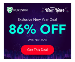 PureVPN New Year Deal: 60 Months for only $1.48/mo