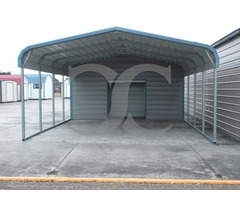 Triple Wide Vertical roof Carport for Vehicle Protection - Cardinal Carport