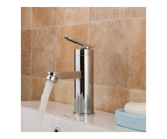 Brass Chrome Waterfall Bathroom Basin Faucet Single Handle Sink Cold Hot Mixer Tap