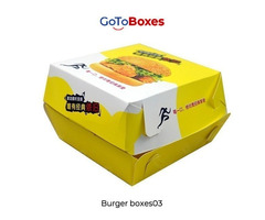 Personalize your Custom Burger Boxes at GotoBoxes
