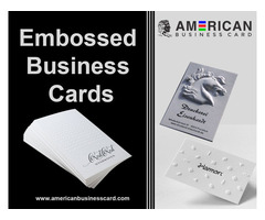 The Most Attractive Embossed Business Cards at Best Prices
