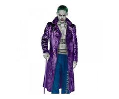 Suicide Squad, Jared Leto Joker Leather Long Coat for Sale