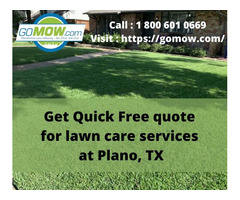 Get Quick Free quote for lawn care services at Plano, TX