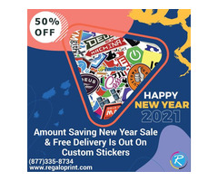 50% Amount Saving New Year Sale On Custom Stickers With Free Delivery Is Out  | free-classifieds-usa.com