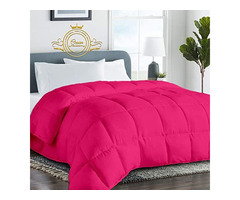 Solid Hot Pink Comforter