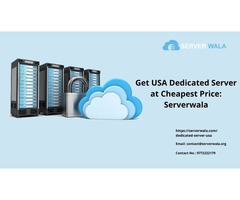 Get USA Dedicated Server at Cheapest Price: Serverwala
