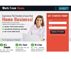 Work From Home and Affiliate Marketing Training